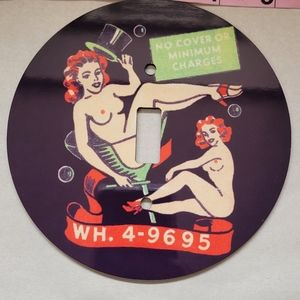 Pinup Lightswitch Cover 'No Cover or Minimum Chg'
